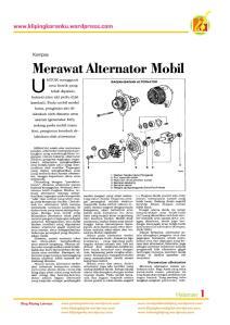 Merawat Alternator Mobil